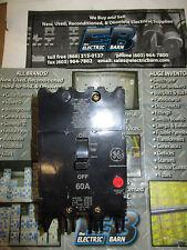 GE TEY360, 3 POLE 60 AMP 480 VOLT Circuit Breaker- WARRANTY