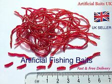 Pack of Artificial Fishing Bait Earth Worms * Perch, Chub, Roach, Dace, Barbel*