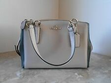 New COACH 52766M Color Block Mini Christie Satchel $295 SV/GREY BIRCH/BLACK