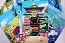 8PCS Studio Ghibli Film A3 Size Posters Howl's Moving Castle in the Sky Totoro