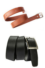 Men's Belt Black and Tan Color Combo with Free LED Watch