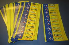 Lot of 60 Old Vintage 1950's - B B BATS Banana TAFFY Candy Wrappers - BASEBALL