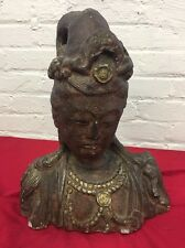 Vintage FEMALE GODDESS BUST Stone Buddha Asia India ?