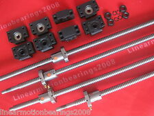 4 lead ball screw RM1605-1500/1500/1200/450mm end machined +4 ballnut +4 BK/BF12