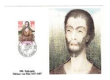 Liechtenstein FDC Ersttagsbrief Karte 1987 Hl.Nikolaus von Flüe Mi.Nr. 918