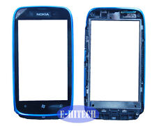 Nokia Lumia 610 N610 Digitizer with prefitted Blue frame Touch Screen Lens+tools