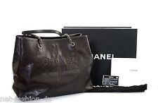 CHANEL F/W 2013 RUE CAMBON BROWN LEATHER SHOPPER BAG LIMITED NUMBER EDITION BNWT