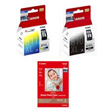 Canon PIXMA PG-810XL Black, CL-811XL Color Ink Cartridges+4R Photo Paper (20 Sh)