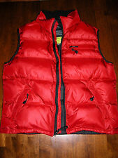Men's Ralph Lauren Down Vest Jacket 80% Down 20% Feather Red Color Size L