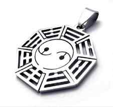 Fashion Jewelry 316L Stainless Steel Eight Diagrams Pendant cool Mens Necklace