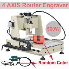 4Axis Engraver 3040 CNC Router Driling Milling Carvig Machine Desktop+Mach3 560W