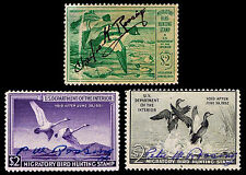 RW16-18 USED FEDERAL DUCK STAMPS - FINE & BETTER - $34.00 (ESP#0358)