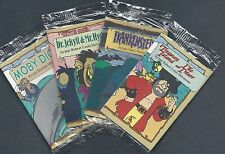 """1994 Kellogg's Canada """"Pagemaster"""" Classics, Set of 4 Inserts, Moby Dick, etc."""