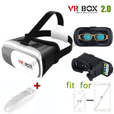 3D VR CASE /VR BOX 2ND GENERATION VIRTUAL REALITY GLASSES 2.0 + BLUETOOTH REMOTE