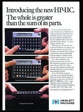 1982 HP-11C calculator photo Hewlett Packard vintage print ad