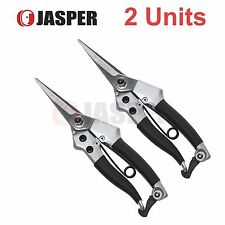 "2 Units of Jasper 7 3/4"" Heavy Duty Straight Blade Trimming Fruits Pruner"