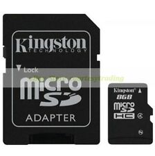 Kingston Micro SD HC 8GB 8G Class 4 C4 Flash Memory Card with Adapter New