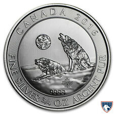 2016 3/4 oz Canadian Silver Howling Wolves Coin (BU) - SKU 0114