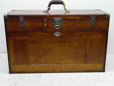 Vintage H. Gerstner & Sons 11 Drawer Wooden Machinist Tool Chest Box no key