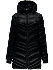 NEW SPYDER TIMELESS LONG DOWN JACKET WOMENS BLACK XS XSMALL 700 FILL WARM DWR