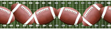 Footballs Across the Football Field Peel & Stick Wallpaper Border QA4W1661