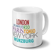 "Städtetasse Würzburg - Design ""Famous Cities in the World"""