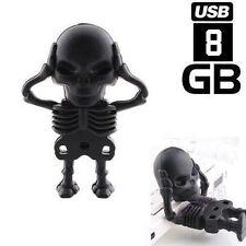 Wholesale! 8GB Funny Black Skeleton Model Usb 2.0 flash Memory Stick Pen Drive