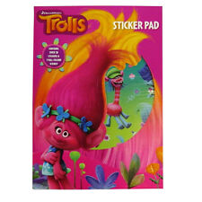 Trolls - Colour Scene Sticker Pad with Stickers - by Dreamworks