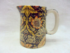 William Morris strawberry thief mini cream jug pitcher by Heron Cross Pottery