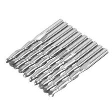 10Pcs 1/8'' 2 Flute 3.175mm Carbide CNC Ball Nose End Mill Bits 22mm Flute Tools