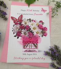 Personalised Card Mother Grandmother Nan Aunt Birthday Friend 55th 45th 85th