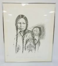 FRAMED LIM ED NATIVE AMERICAN PRINT BY TERI EAGLE SONG TITLED *MADON... Lot 1301