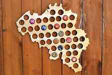 Belgium Beer Cap Map Bottle Cap Map Collection Gift Art