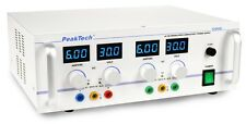 PeakTech 5995 AC/DC stab. Labornetzgerät/Laboratory Power Supply 0-30 V/0-6 A