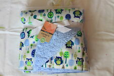New High Quality Baby Crib Cot Soft Velour Reversible Blanket 76 x102 cm