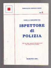 GUIDA AL CONCORSO PER ISèETTORE DI POLIZIA - manuali simone