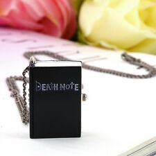 Vintage Unique Death Note Book Quartz Pocket Watch Pendant Necklace Gift MC