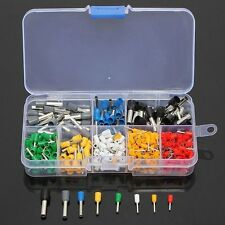 400PCS Wire Copper Crimp Connector Insulated Cord Pin End Terminal Kit Set Tools