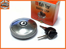 Fahler Polished STAINLESS STEEL Locking Fuel Petrol Cap FORD ANGLIA 100E 105E