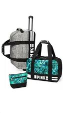 Victoria's Secret PINK 3 Piece Travel Luggage Set Limited Edition Marl Grey Fern