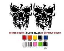 "(#462) 6"" SET SKULL DIE CUT VINYL DECAL STICKER WINDOW CAR TRUCK ATV UTV BUMPER"