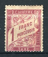 """FRANCE STAMP TIMBRE TAXE 39 """" DUVAL 1F ROSE S PAILLE 1896"""" NEUF x TB SIGNE  P781"""