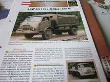 Archiv Militärfahrzeuge Schwere Rad Kfz 33.1 Steyr 680 M LKW 2,5 t Österreich