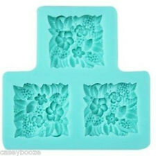 Silicone Lace Flowers Mould - Chocolate - Cake Decorating - Fondant - New