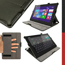 "Black PU Leather Case for Asus Transformer Book T100 T100T T100TA 10.1"" Tablet"