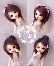 "New 3-4"" 9-10cm Dark Brown Fabric Fur Wig For AE PukiFee lati 1/12 Doll Antiskid"