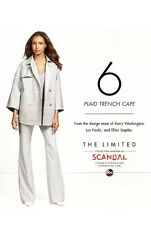 New The Limited Scandal Taupe Plaid Trench Cape Jacket SZ XS