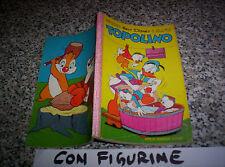 TOPOLINO LIBRETTO N.286 ORIGINALE MONDADORI DISNEY 1961 CON BOLLINO E FIGURINE