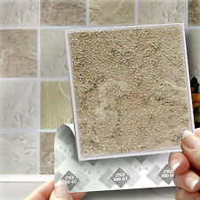 18 Stick and Go 'Cotswold' Stone Wall Tiles, Stickers For Kitchen or Bathroom