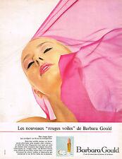 PUBLICITE ADVERTISING 124  1967  BARBARA  GOULD   rouges à lèvres VOILES